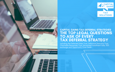 The top legal questions to ask of every tax deferral strategy